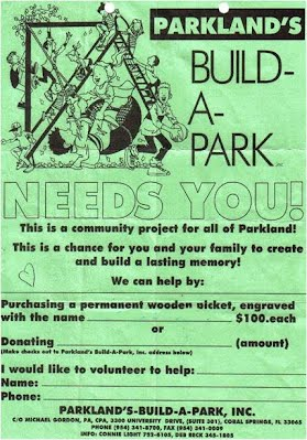 Parkland's Build A Park - Need's You